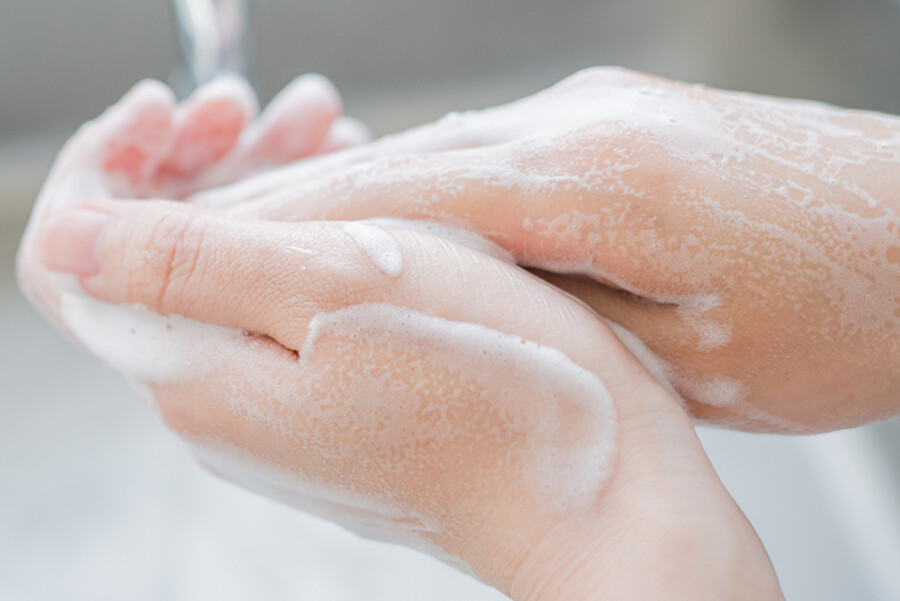 STOP THE SPREAD THROUGH PROPER HAND WASHING